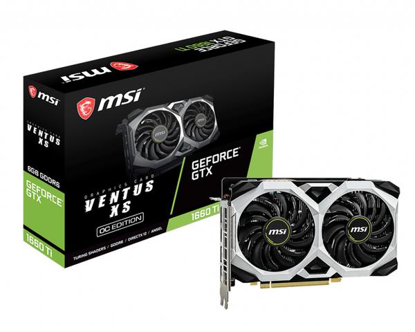 MSI GeForce GTX 1660 Ti VENTUS XS 6GOC 6GB -Graphics card +