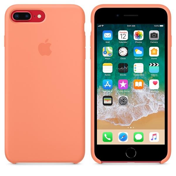 cheaper 2502f 87c8d Apple iPhone 8 Plus / 7 Plus Silicone Case - Peach | Phone covers ...