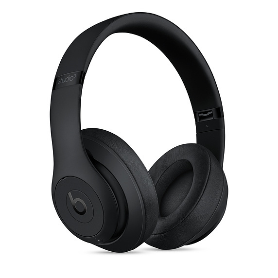 Beats Studio3 Wireless Over Ear Mic Headphones Matt Black