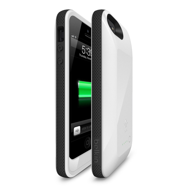 separation shoes a26dc 2ac35 BELKIN Grip Power Battery case IPhone 5/5S White   Phone covers ...