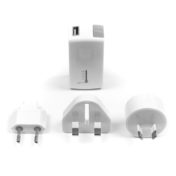 TARGUS 2-in-1 USB Wall Charger and Power Bank White   USB