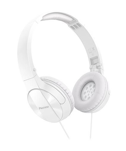 Pioneer Headband Headphone Swivel Out Mechanism White
